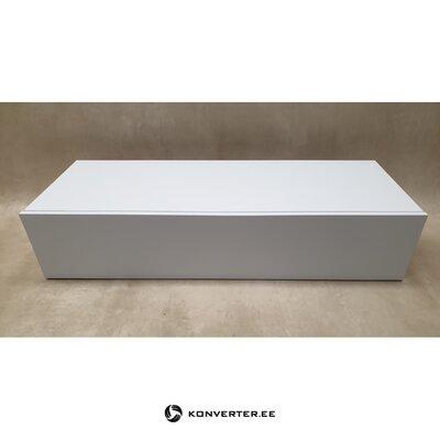 Белый глянцевый навесной шкаф
