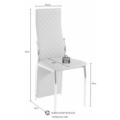 White soft coated chair with high backrest