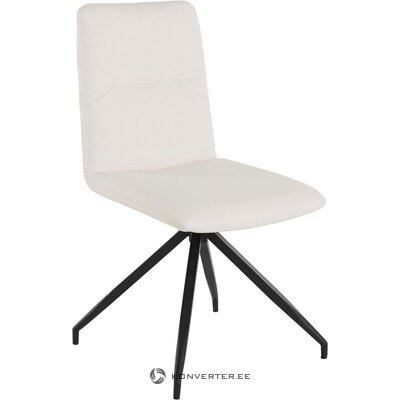 Black and white swivel leather chair (loxley)