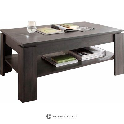 Dark gray coffee table with shelf (whole, hall sample)