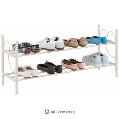 Beige metallinen kenkäteline