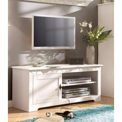 White solid wood TV stand (laura)