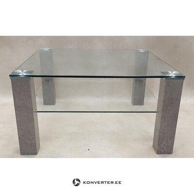 Gray glass coffee table