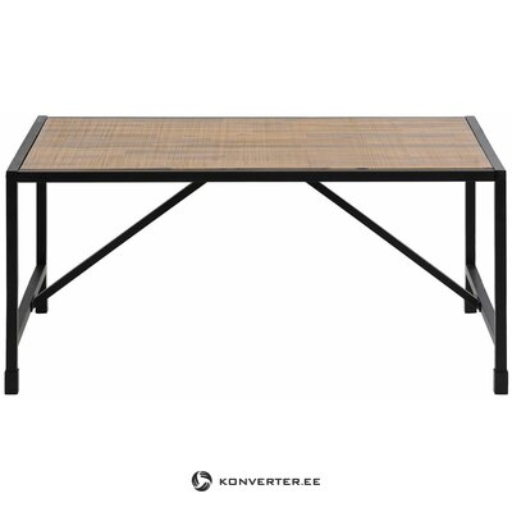 Rudai juodas mažas sofos staliukas (soho)