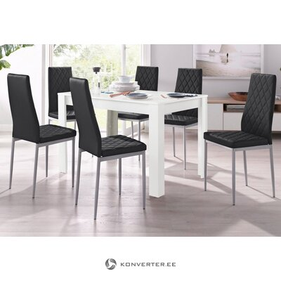 Black chair with soft leather