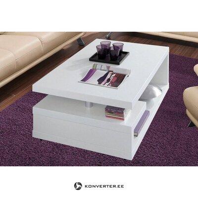 Valkoinen sohvapöytä hyllyillä (inosign)