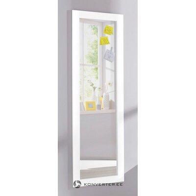 Белое высокое зеркало (рондо). (целый, в коробке)