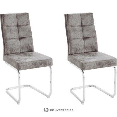 Šviesiai pilka minkšta kėdė (lale)