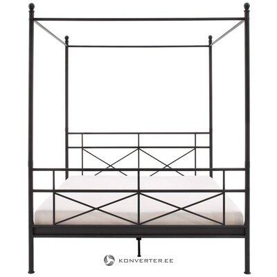 Кровать с балдахином (тора) черный металл (160х200см)