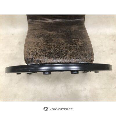 Ruskea korkea pehmeä tuoli (Ziri)