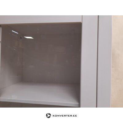 Белый шкаф-витрина