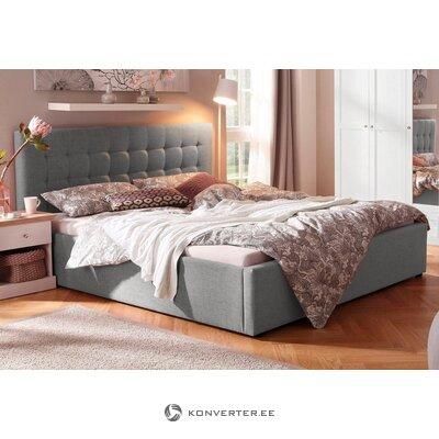 Harmaa verhoiltu sänky (180x200) (hamar) (kokonainen)