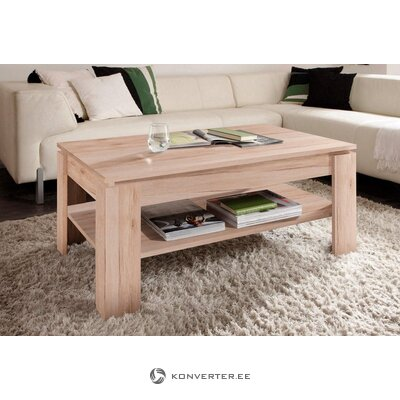 Brown coffee table with shelf (trendteam)