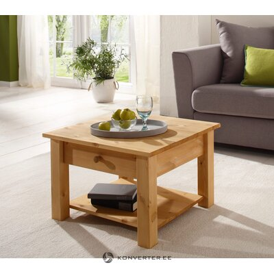 Light solid wood sofa table with drawers