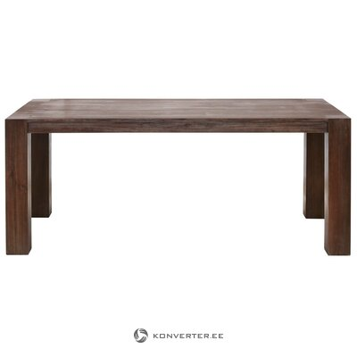 Acacia dark brown dining table (180cm) (maggie)