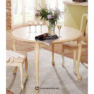 Smėlio spalvos apvalus valgomasis stalas (karalienė)
