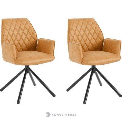 Brown-yellow soft chair (preston)