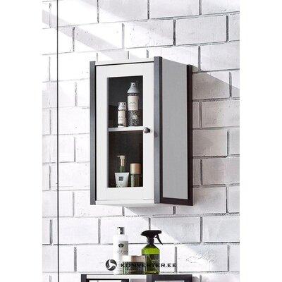 Черно-белый навесной шкаф (крис)