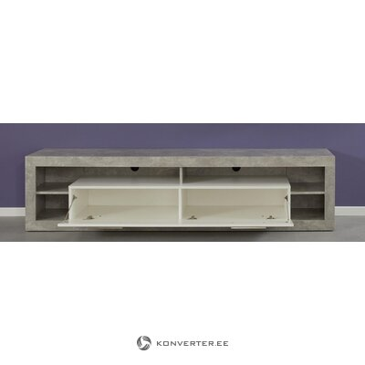 Gray-white wide TV cabinet (rock)