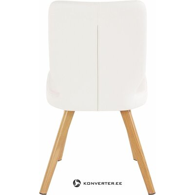 Белый мягкий стул