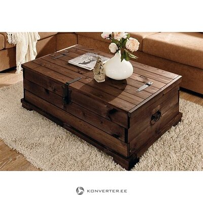 Dark Brown Solid Wood Coffe / Chest