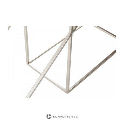 Металлический консольный стол с мраморной столешницей