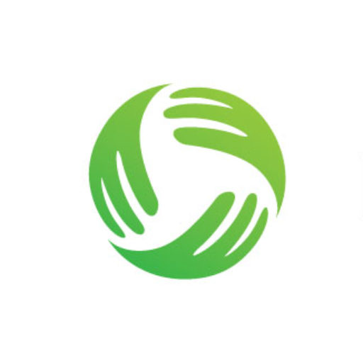 Small white metal nightstand with glass