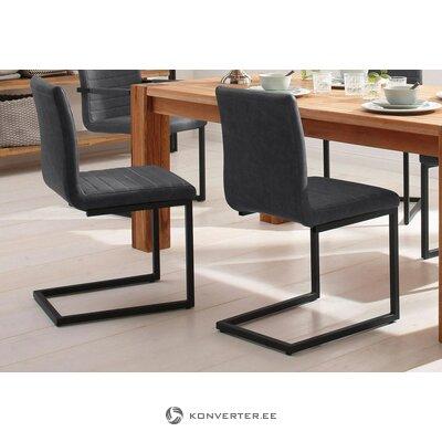 Pehmeä tummanharmaa tuoli