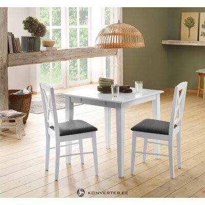 White-gray solid wood chair