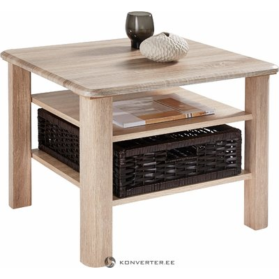 Light brown coffee table with basket (inosign)