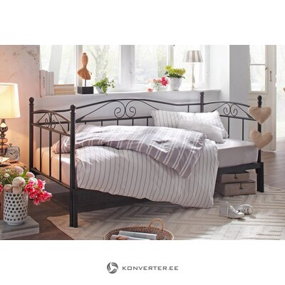 Juoda plati lova (90-180 cm x 206 cm)