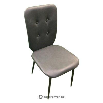 Dark gray leather chair