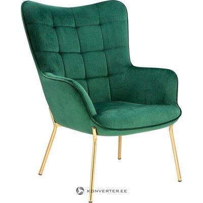 Green velvet armchair (loue)