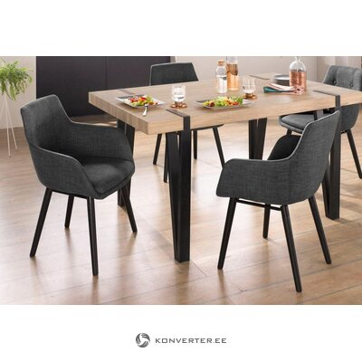 Anthracite black chair (bradford) (whole, in box)