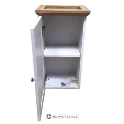 Шкаф навесной коричнево-белый с 1 дверцей
