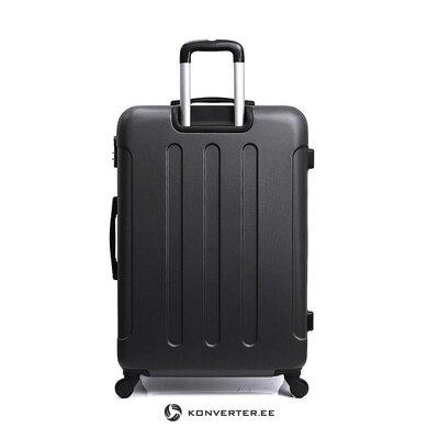 Черный средний чемодан (синяя звезда)
