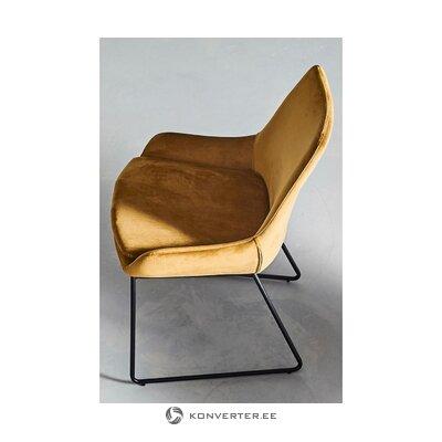 Brūns samta krēsls (jotex)