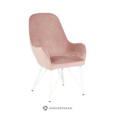 Розовое бархатное кресло (мартинсен)