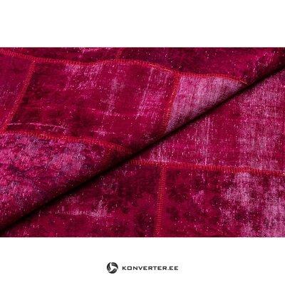 Punainen-vaaleanpunainen kuvioitu matto (napa) 170x247cm