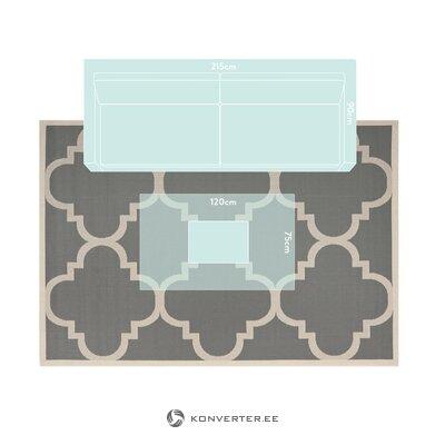 Dark gray carpet with patterned zayba (safavieh)