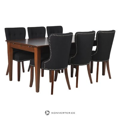 Dark gray chair adele (rowico) (hall sample)