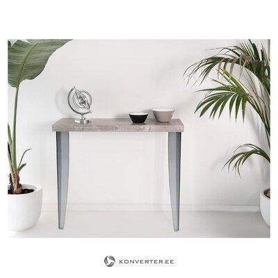 Gray console table aubrey (braid company)