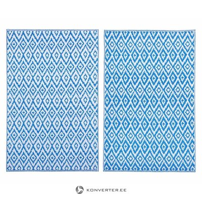Blue-white inner and outer carpet (glam) (whole, in a box)