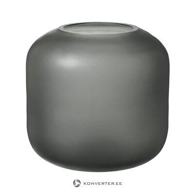 Pilkų žiedų vaza ovalo (blomus) (sveika, mėginys)