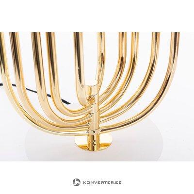Золотисто-белая настольная лампа (этан хлоя) (холл образец, с изъянами)