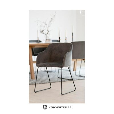 Gray velvet chair casablanca (interstil denmark) (minor flaws hall sample)