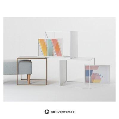 Kafijas galdiņš 2 sienas (pielāgota forma) (bojāts, zāles paraugs)