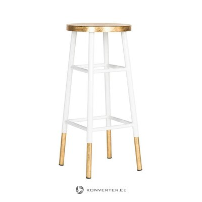 White-golden bar stool lugo (safavieh) (hall sample)
