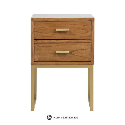 Small brown bedside table stay (santiago pons) (defective, hall sample)