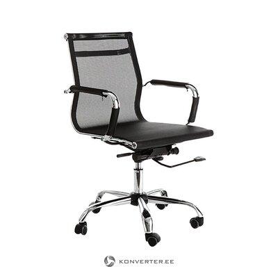 Melns un sudraba biroja krēsls (tomasucci) (vesels, zāles paraugs)